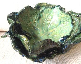 Decorative Cabbage Pottery Bowl