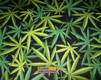 "Half Yard Alexander Henry Herb Fabric 18""x44""/ Marijuana fabric/ Cannabis fabric/ Cotton print Novelty Fabric/ Natural Herb fabric"