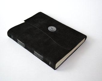 Ready To Ship Sketchbook for Drawing, Large Sketchbook, Black Sketchbook, Gifts for Artists, Suede Notebook, Unlined Notebook for Men, 6x8