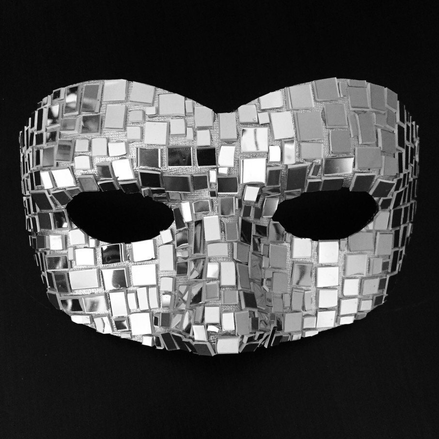 Venetian Small Carnival Mosaic Halloween Mirror Mask
