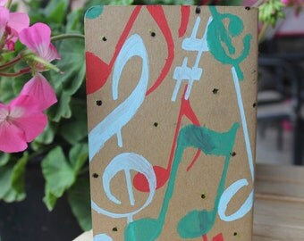 Painted Moleskine journals with pocket