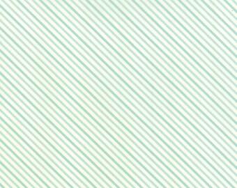 Hello Darling - Summer Stripe in Aqua by Bonnie & Camille for Moda Fabrics
