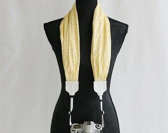 lemoncello scarf camera strap