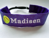 Softball SPARKLE Headband Adjustable No Slip Hair Bands PERSONALIZED you Choose Prints Many Sports and Patterns Available