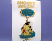 Aviva 1970's Snoopy Awards Pin World's Greatest Student