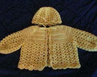 bright yellow baby set for girl