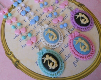 Lolita Mermaid necklace and heart beads