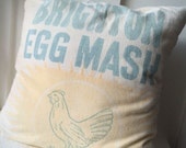 Vintage Grain Sack Pillow Cover Brighton Egg Mash