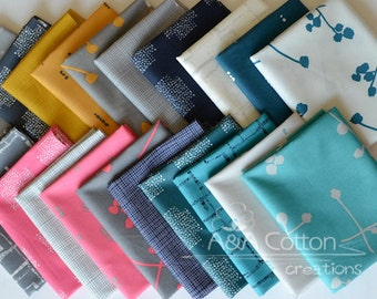 Imprint Bundle of 20 prints, Premium Cotton Fabric, AGF Cotton, Quilting Weight textile. Modern fabric