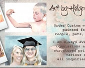 Custom watercolors painted for you by Helga McLeod
