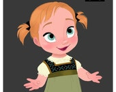 Custom toddler Anna dress - size 12 months
