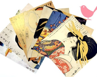 Scrap Pack - Japanese origami paper ephemera, paper scraps Lot 1