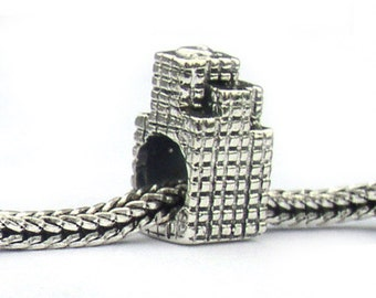Sears Tower Chicago Landmark Bead Sterling Silver LM037