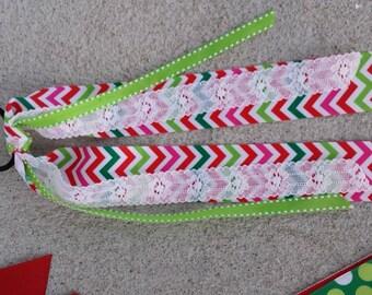 Christmas  streamer ribbons