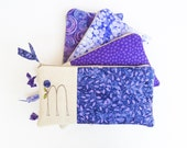Purple Bridesmaid Clutch, Personalized Gift for Bridesmaids, Set of 4 Lavender Wedding Monogram Clutches MADE TO ORDER by MamaBleuDesigns