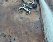 Horsehair key ring