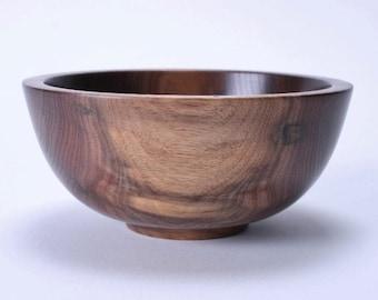Wild Black Walnut Wooden Bowl 1418