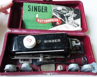 Singer Buttonholer 160743 with 5 Templates, Instructions for Model 301 Vintage
