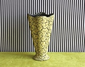 RESERVED for Danny Danckaert - Mid Century West German Pottery Vase by Jasba Dekor Cortina Yellow