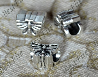 12 pcs 9x13 mm Antique silver butterfly Interval beads, butterfly metal beads,butterfly Connectors findings beads,jewelry findings