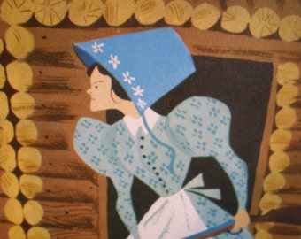 Vintage Mid Century Original Aurelius Battaglia Illustration - Pioneer Woman