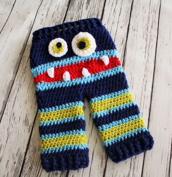Crochet Pattern Baby Monster Pants : PATTERN Crochet Monster Baby Pants PATTERN by JojosBootique