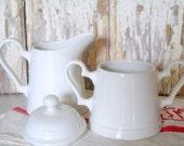 SALE! Vintage Johnson Brothers Creamer and Sugar Bowl