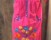 70s Floral House Dress/ T...