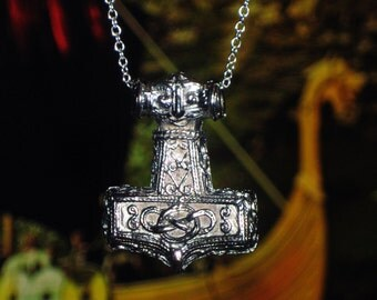 "Mjölnir - ""Thors Hammer"" - Scania Swedish Viking Era Style Stainless Steel Amulet Pendant Replica - Strength, Worrior, Power, Protection"