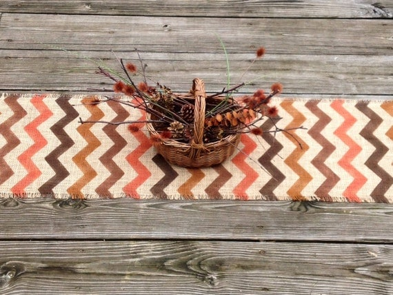 Rustic Chevron Table Runner