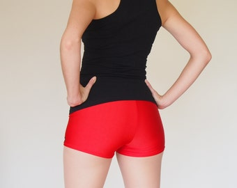 Red Roller Derby Shorts - size L in stock