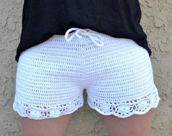Crochet Shorts - Bikini Bottoms - Beach Cover-up - Summer Fashion - Vegan Friendly - Festival Clothes - Rave Wear - H&M Inspired