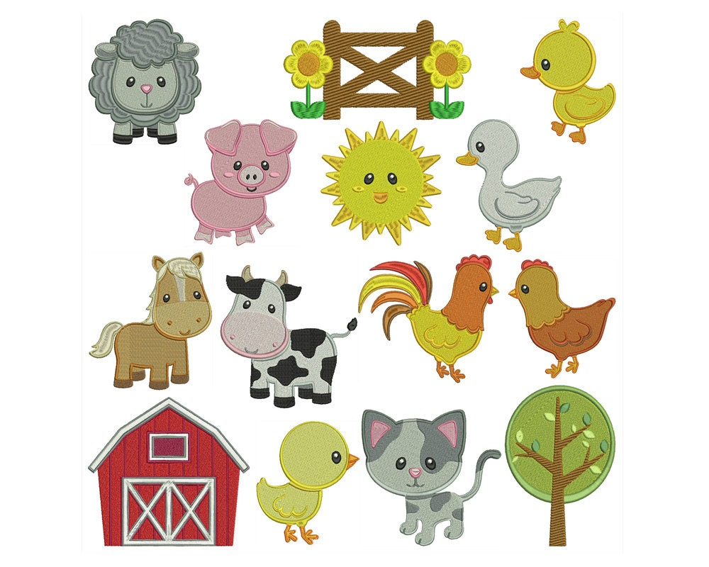 Embroidery designs animals makaroka