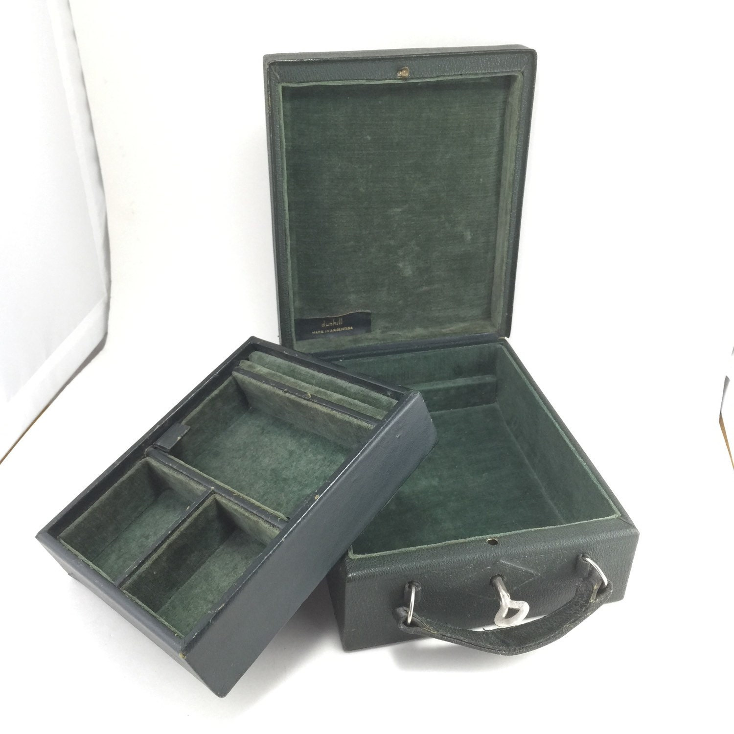 gentlemans travel case jewelry box lock key dunhill by