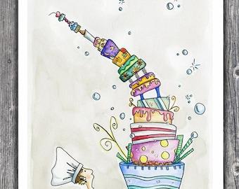 Cake Man - 8.5 x 11 print