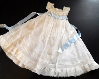 Vintage French Handmade Child's Dress