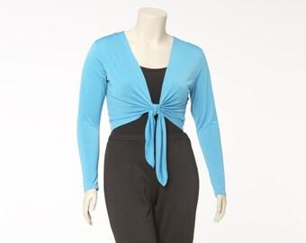 Bolero Tie Cardigan Matte Jersey Misses & Plus Sizes 2-28