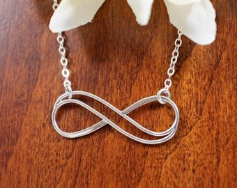 Large Double Infinity Necklace Sterling Silver | Infinity Necklace | Gift For Mother, Daughter, Wife, Sister, Friend