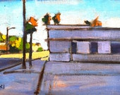 Laundromat, Santa Barbara Original Oil Painting