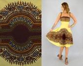 SALE • 60's Dashiki Convertible Wrap Dress