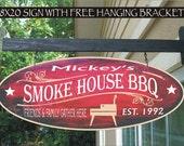 BBQ Smoker Smokehouse Smoker Chef Gift Family Name Aluminum Custom Personalized Sign