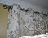 Valance with grommets  50x18