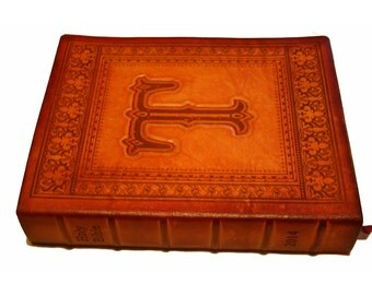 Handcrafted Leather Family,Anniversary or Wedding Bible Customized with family Heritage Section