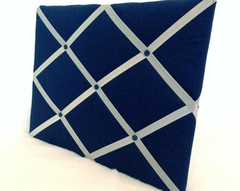 Denim blue and grey Memory Board French Memo Board or YOU customize colors