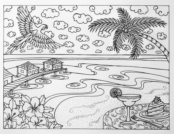 jamaica coloring pages of beaches - photo#28