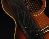 Custom Leather Guitar Strap, Custom Guitar Strap: Nightwing Guitar Strap