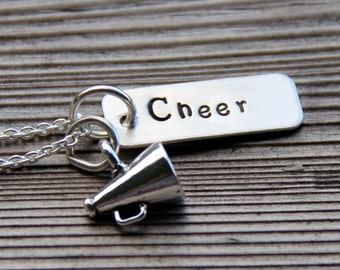 Cheer Necklace - Cheer Leader Necklace - Cheerleader - Gift For Coach - Gymnastics Necklace - Gymnastics - Gift For High School Cheerleader
