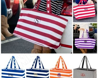 Monogrammed Large Tote Bags