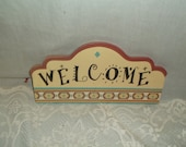 Retro Southwest Welcome Sign, Desert Colors, Wall Decor