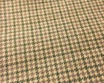 Destash houndstooth wool fabric